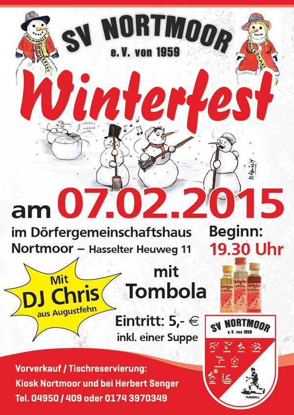 SV Nortmoor Winterfest am 07.02.2015